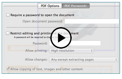 Protect your PDF with password