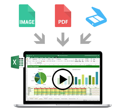 Convert your documents to Excel files