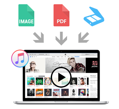 Convert image or PDF to an audio file