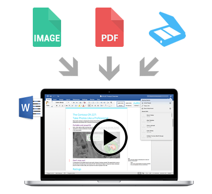 Convert image or PDF to Word