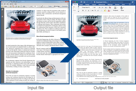 Readiris 15 recreates document layouts for you