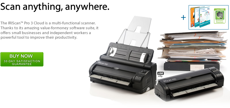 IRISCan Pro Office 3, mobile scanner
