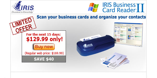Iris business card reader reheart Image collections